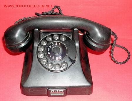 TELEFONO SOBREMESA DE-TE-WE (Antigüedades - Técnicas - Teléfonos Antiguos)