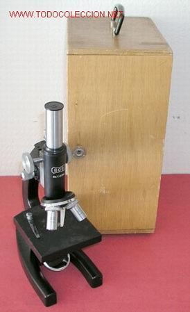 MICROSCOPIO BOB CON CAJA (Antigüedades - Técnicas - Instrumentos Ópticos - Microscopios Antiguos)