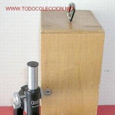 Antigüedades: MICROSCOPIO BOB CON CAJA. Lote 12085039
