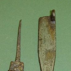 Antigüedades: PESTILLO ANTIGUO HIERRO FORJADO (COMPLETO). Lote 19087901