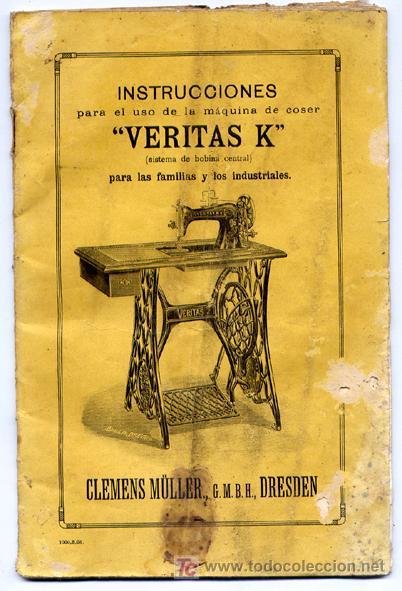 Antiguo manual de instrucciones para la maquina - Vendido