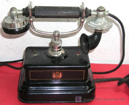TELEFONO ANTIGUO DE CONSOLA (Antigüedades - Técnicas - Teléfonos Antiguos)
