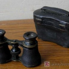 Antigüedades: PRISMATICOS DE METAL Y CUERO .. CON ESTUCHE DE CUERO. Lote 26687511