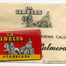 Antigüedades: 2 HOJAS DE AFEITAR LA CIBELES, DE PALMERA. ACANALADA. Lote 27234937