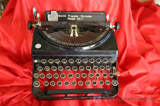 MAQUINA DE ESCRIBIR PORTATIL (Antigüedades - Técnicas - Máquinas de Escribir Antiguas - Smith)