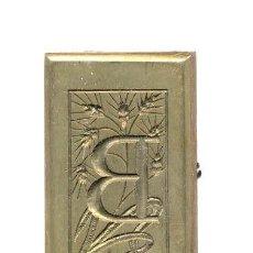 Antigüedades: GRABADO BRONCE BAJO RELIEVE EN SECO 25 X 40 MM: GROSOR 7 MILIMETROS. Lote 25627770