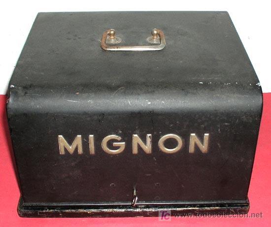 Antigüedades: MAQUINA DE ESCRIBIR MIGNON Nº 3 CON ESTUCHE METALICO - Foto 8 - 12388839