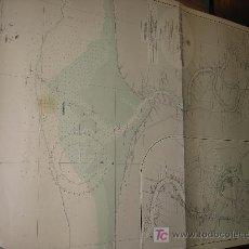 Antigüedades: ANTIGUA CARTA DE NAVEGACION DE LA COSTA DE BANGKOK. Lote 30976773