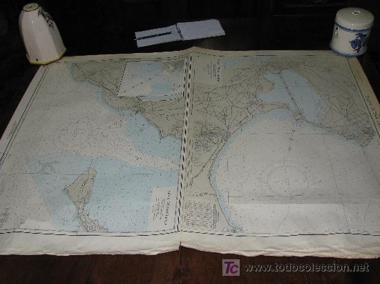 ANTIGUA CARTA DE NAVEGACION DE LAS COSTAS DE TUNEZ (TUNISIA) (Antigüedades - Antigüedades Técnicas - Marinas y Navales)