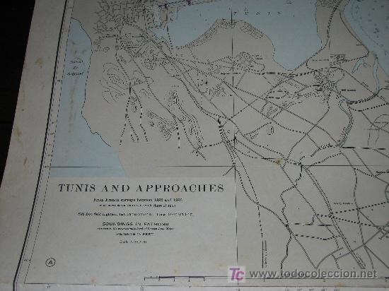 Antigüedades: Antigua carta de navegacion de las costas de Tunez (Tunisia) - Foto 2 - 27322562