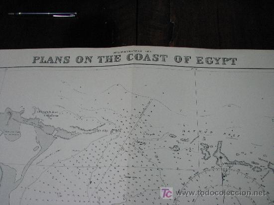 Antigüedades: Antigua carta de navegacion de las costas de Egipto - Foto 2 - 26422338