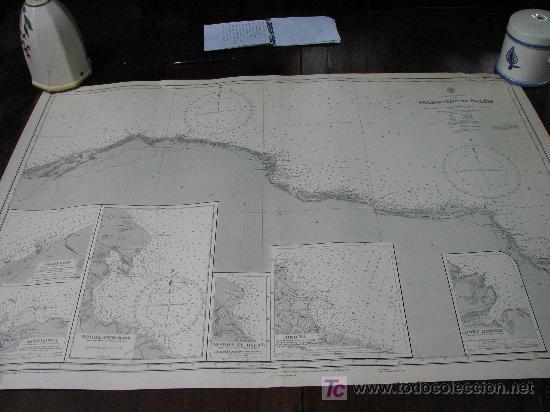 ANTIGUA CARTA DE NAVEGACION DE LAS COSTAS DE LYBIA (Antigüedades - Antigüedades Técnicas - Marinas y Navales)