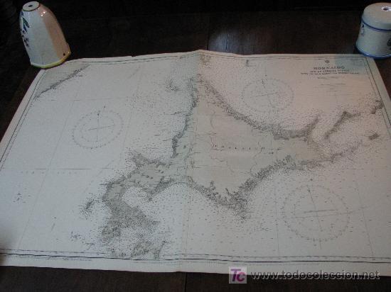 ANTIGUA CARTA DE NAVEGACION DE HOKAIDO. JAPON (Antigüedades - Antigüedades Técnicas - Marinas y Navales)
