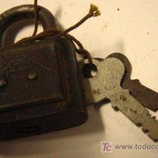 Antigüedades: CANDADO DE 5 CMS DE ALTO, DUP. Lote 5369297
