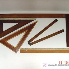 Antigüedades: LOTE DE REGLAS DE MADERA. Lote 26799893