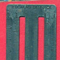 Antigüedades: ESCALÍMETRO 6 ESCALAS. ESCALAS BERGACE. AÑOS 30-40.. Lote 19137234