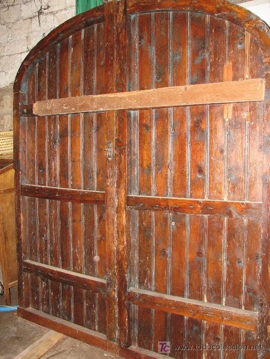 Antiguo port n de masia de madera maciza comprar for Porton madera antiguo