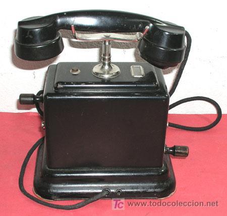 TELEFONO DE CONSOLA ANTIGUO (Antigüedades - Técnicas - Teléfonos Antiguos)