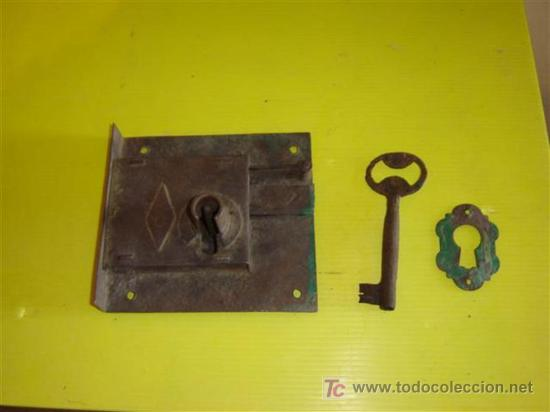 Antigüedades: cerradura antigua - Foto 2 - 7086715