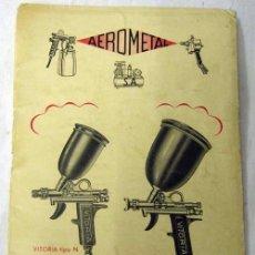 Antigüedades: MANUAL DE INSTRUCCIONES DEL AERÓGRAFO MODELO VITORIA DE AEROMETAL AÑOS 40. Lote 7294349