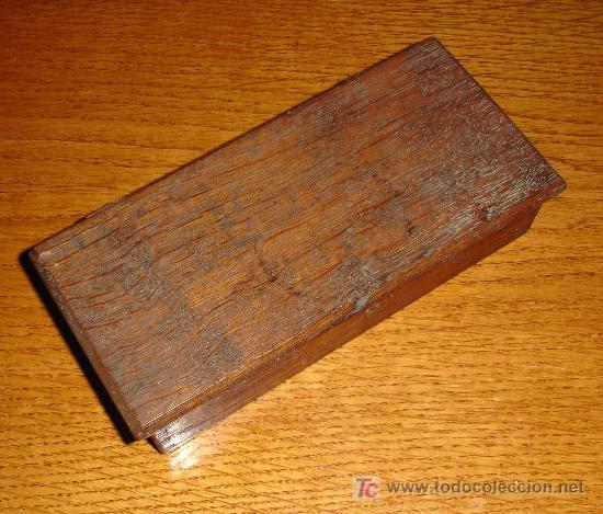 Antigüedades: Antiguo juego de pesas con estuche de madera y balanza S.XIX - Foto 7 - 27155925