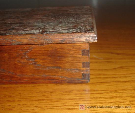 Antigüedades: Antiguo juego de pesas con estuche de madera y balanza S.XIX - Foto 8 - 27155925