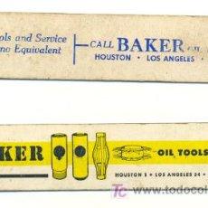 Antigüedades: 2 TABLAS DE EQUIVALENTES .. PROPAGANDA BAKER – USA. Lote 16859499