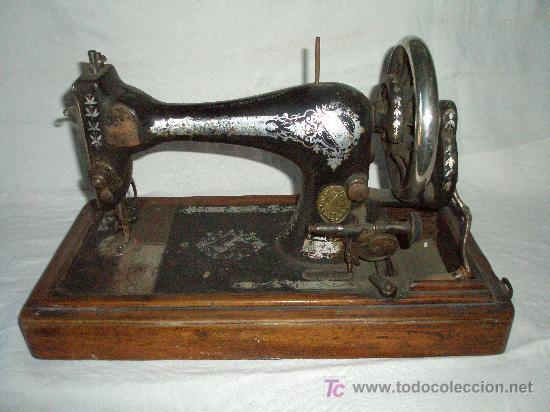 MAQUINA COSER MANUAL MARCA SINGER (Antigüedades - Técnicas - Máquinas de Coser Antiguas - Singer)
