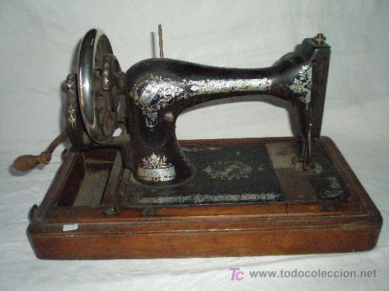 Antigüedades: MAQUINA COSER MANUAL MARCA SINGER - Foto 3 - 27381506