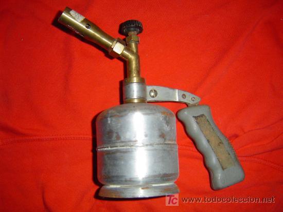 SOPLETE PLATEADO (Antigüedades - Técnicas - Herramientas Profesionales - Mecánica)