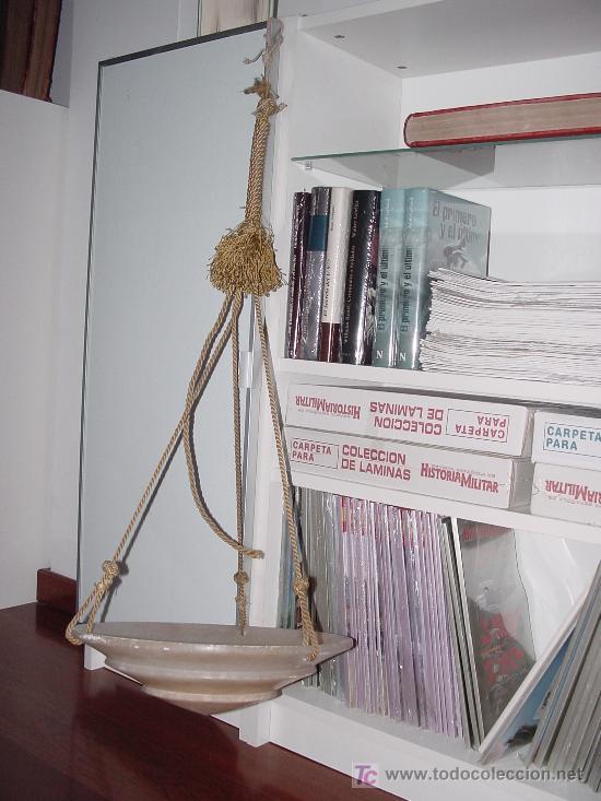 LÁMPARA ANTIGUA DE ALABASTRI. 35CM DE DIÁMETRO (Antigüedades - Técnicas - Medidas de Peso Antiguas - Otras)