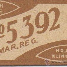 Antigüedades: 7.43 CUCHILLA DE AFEITAR Nº 5392 HOJA. Lote 236192530