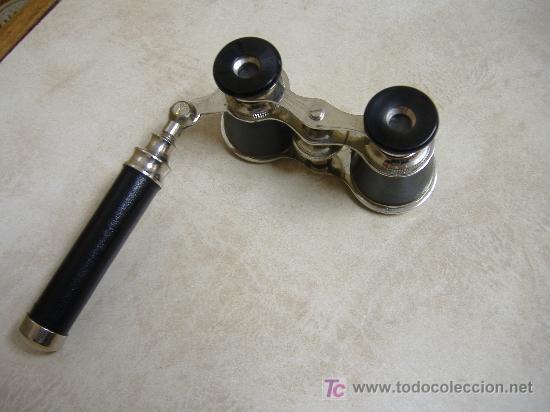 BINOCULAR CON MANGO PARA TEATRO (Antigüedades - Técnicas - Instrumentos Ópticos - Binoculares Antiguos)
