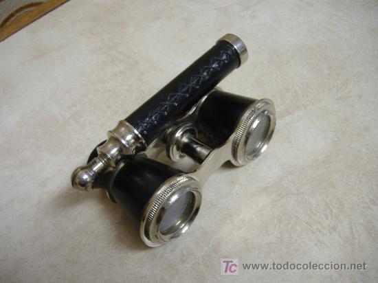 Antigüedades: binocular con mango para teatro - Foto 2 - 97248332