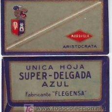 Antigüedades: CUCHILLA DE AFEITAR MARAVILLA ARISTOCRATA. Lote 31202996