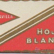 Antigüedades: CUCHILLA DE AFEITAR HOJA BLANCA MARAVILLA. Lote 236193075