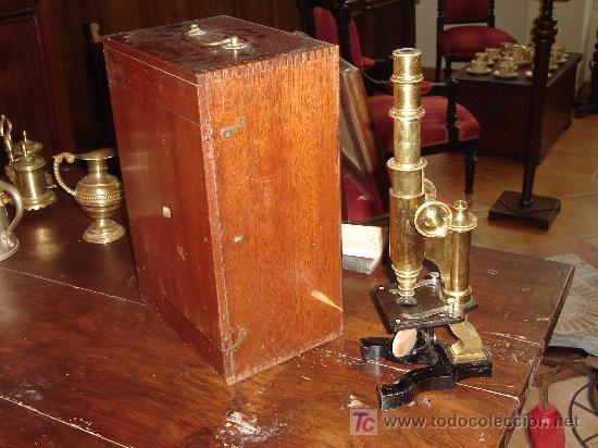 Antigüedades: Antigüo Microscopio alemán con caja - Foto 2 - 26628666