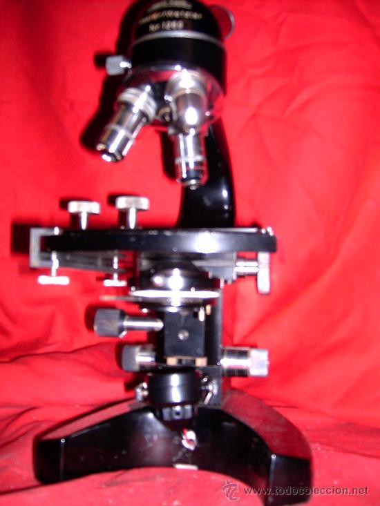 BONITO MICROSCOPIO CON CAJA UTENSILIOS LENTES AÑOS 40 MARCA KARL KAPS (Antigüedades - Técnicas - Instrumentos Ópticos - Microscopios Antiguos)