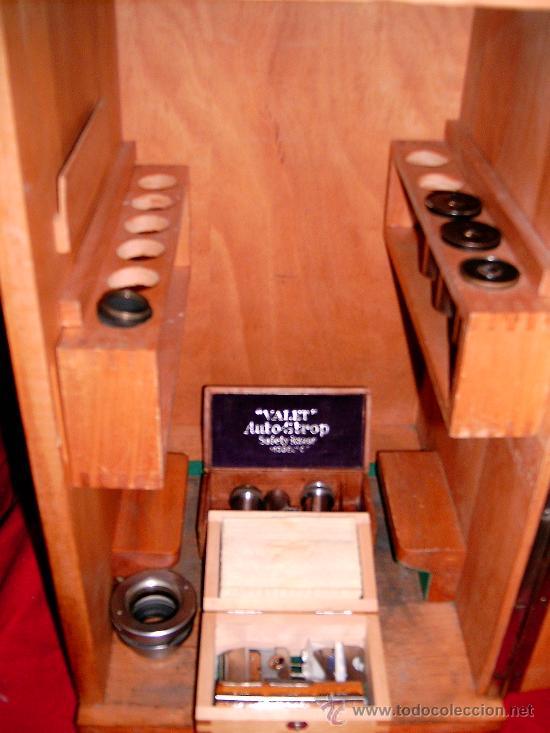 Antigüedades: bonito microscopio con caja utensilios lentes años 40 marca karl kaps - Foto 4 - 8404789