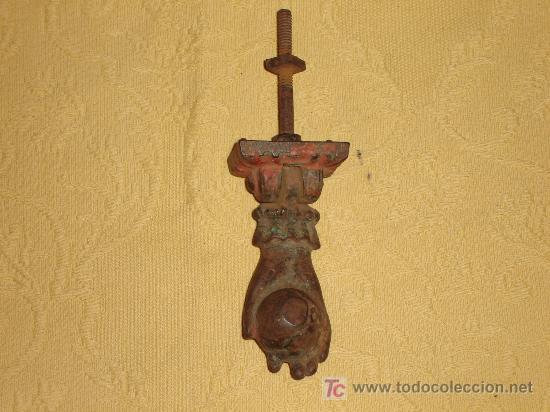 ANTIGUA ALDABA LLAMADOR (Antigüedades - Técnicas - Cerrajería y Forja - Llamadores Antiguos)