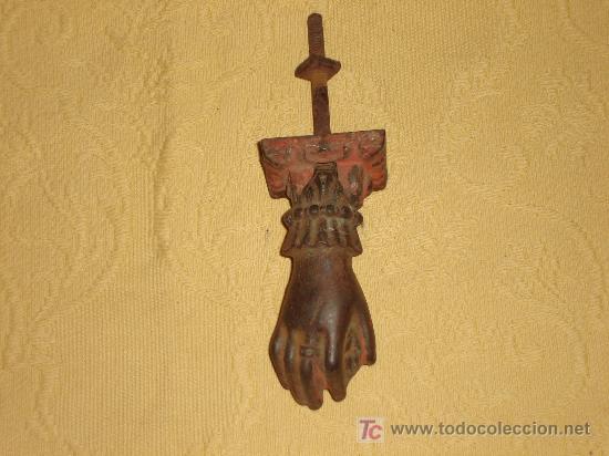 Antigüedades: ANTIGUA ALDABA LLAMADOR - Foto 2 - 102055060