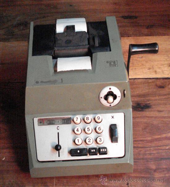 CALCULADORA ANTIGUA (Antigüedades - Técnicas - Aparatos de Cálculo - Calculadoras Antiguas)