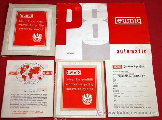 Antigüedades: PROYECTOR EUMIG P 8 AUTOMATIC - Foto 7 - 8488335