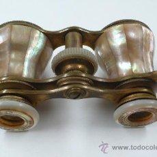 Antigüedades: BINOCULARES EN METAL Y NÁCAR. FINALES S. XIX. Lote 19994959