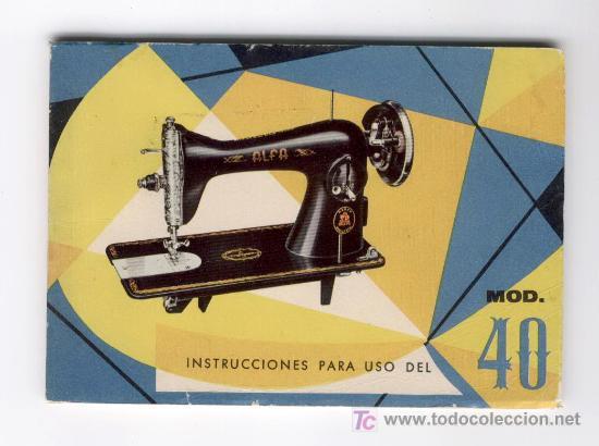 Manual de instrucciones de la maquina de coser - Vendido
