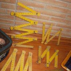 Antigüedades: 5 ANTIGUOS METROS DE MADERA.. Lote 19500543