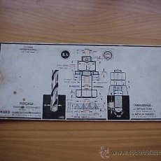 Antigüedades: CALIBRE PARA TALADROS, SYSTEME WHITWORTH. MARO. EDITADO EN FRANCIA. Lote 27177904