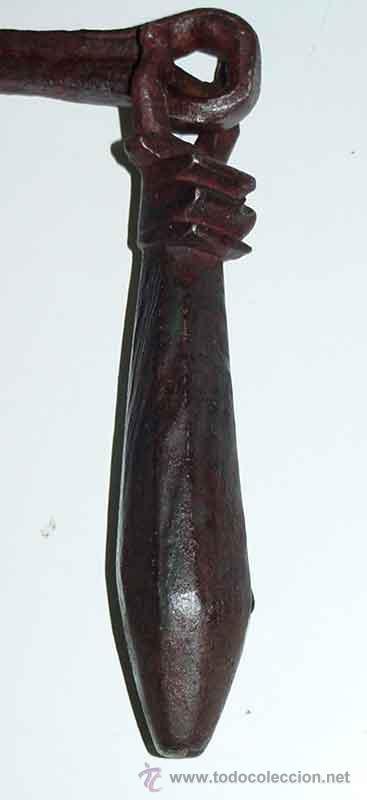 Antigüedades: ANTIGUO LLAMADOR O ALDABA DE FORJA, HIERRO FORJADO - SIGLO XVIII - DE CONSERVACION - MID - Foto 3 - 27301839