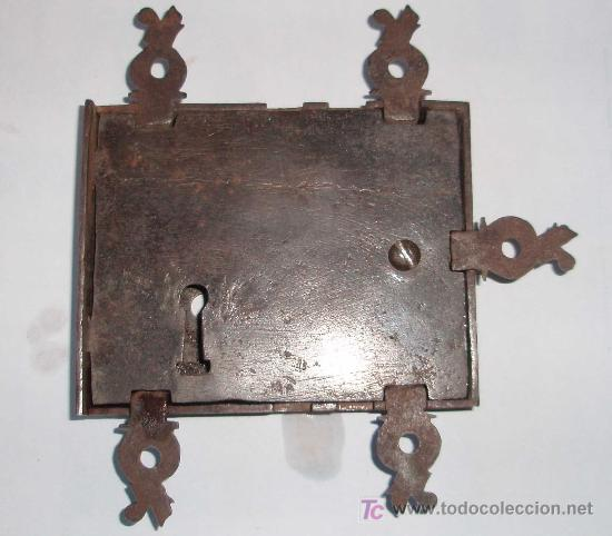 CERRADURA FRANCESA DE ARMARIO. EPOCA LUIS XIV (Antigüedades - Técnicas - Cerrajería y Forja - Cerraduras Antiguas)