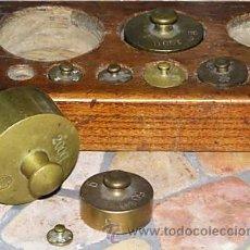 Antigüedades: JUEGO DE PESAS. Lote 9290911